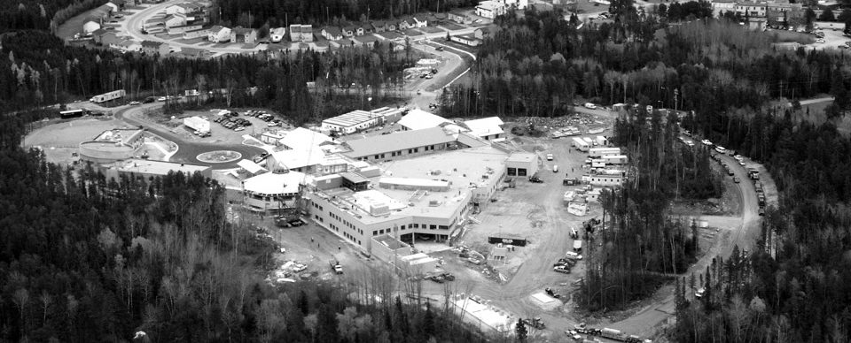 hospital aerial shot construction