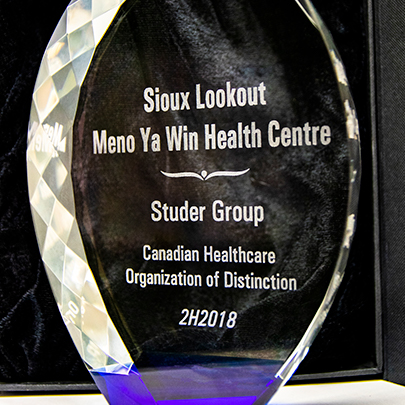 Glass Studer Group award, with text saying