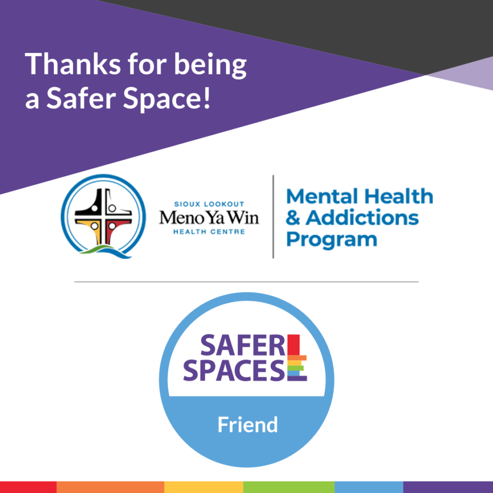 Safer Spaces recognition logo and digital sticker.